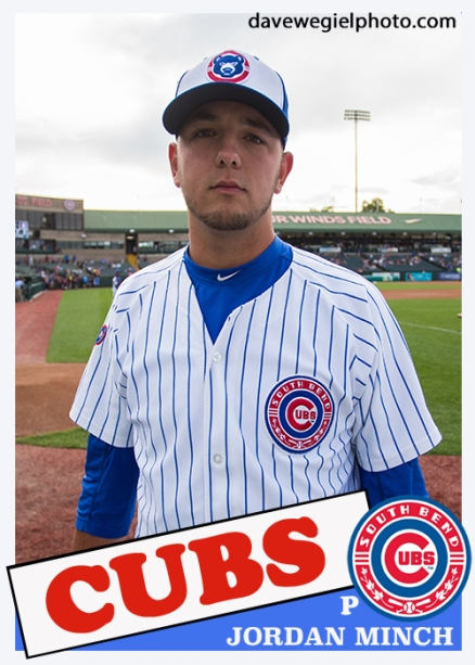 85 topps jordan minch south bend cubs
